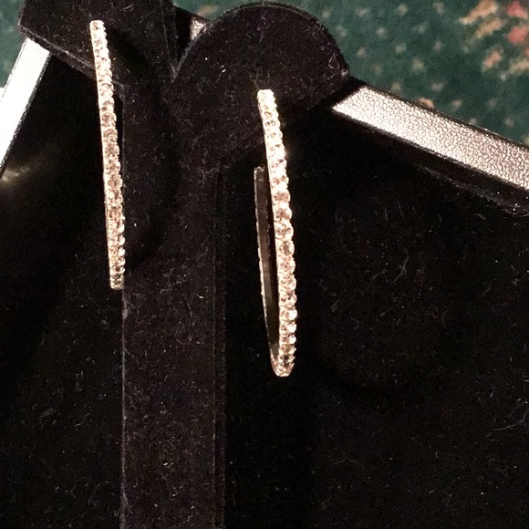 Jewelry - Large cz hoops